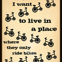 They only ride Bikes by MursBlanc on Etsy