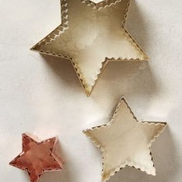 Starry Sky Cookie Cutters by Anthropologie Bronze Set Of 3 House & Home