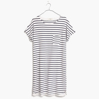 Pocket Tee Dress in Stripe