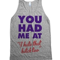 You Had Me At-Unisex Athletic Grey Tank