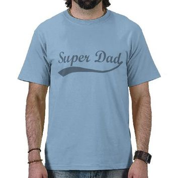 Super Dad Sport Gray Tees from Zazzle.com