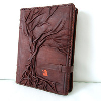 Discounted 4.2 x 6.8  Tree of Life Vintage Natural Handmade Leather  / Journal / Diary / Notebook / Daily Planner / Book Cover / Refillable