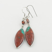 Sonora Sunrise & Garnet - Sterling Silver Earrings - keja Jewelry