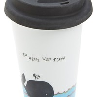 Natural Life 'Whale Go with the Flow' Ceramic Thermal Mug