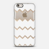 Chevron & Gold for iPhone 6 Transparent case iPhone 6 case by Monika Strigel   Casetify