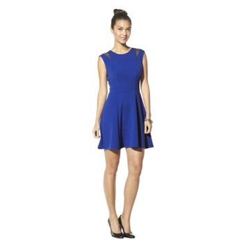 Mossimo® Women's Sleeveless Mesh Detail Dress - Assorted Colors
