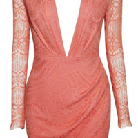 Lola Deep V-Neck Lace Dress - More Colors