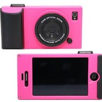 (HK) Peach Retro Stereo Camera Icam Shape Protector Protective Hard Case Cover for iPhone 4 4S 4G