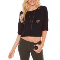 You Are My Universe Top - Black