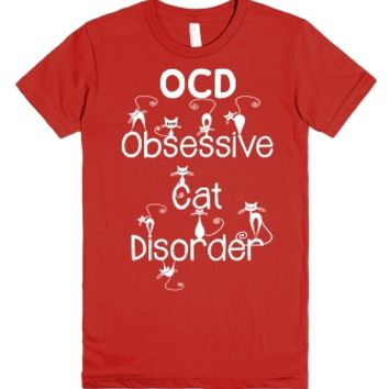 Funny OCD - Obsessive Cat Disorder - Whimsical White Kitty Cats T S...