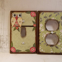 Decoupaged Light Switch Plate Cover and Outlet by GiftsAndTalents
