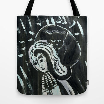 cat woman Tote Bag by Marianna Tankelevich