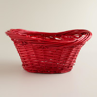 Red Willow Scooped Oval Baskets - World Market