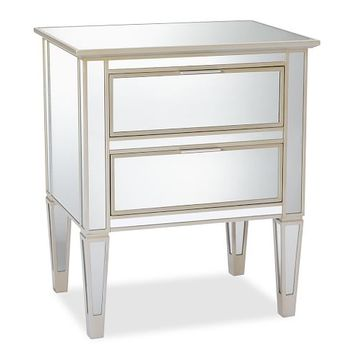 Park Mirrored 2-Drawer Bedside Table