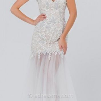 Sweet Tulle Trumpet Prom Gown by Tony Bowls Paris