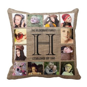 Monogram Modern Family 12 Instagram Photos Pillows