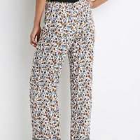 Floral Elephant Print Palazzo Pants