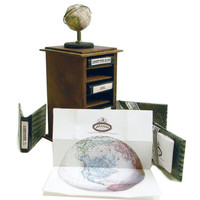 Miniature Map Tower and Globe