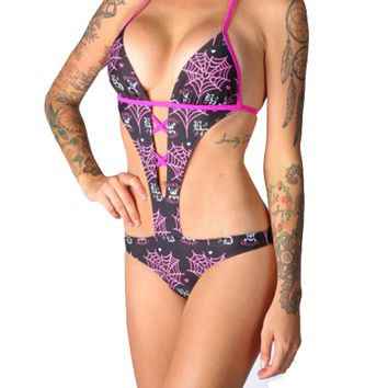 "Women's ""Love Poison"" Monokini by Beautiful Disaster (Black)"