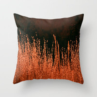 Golden Grasses Throw Pillow by Veronica Ventress | Society6