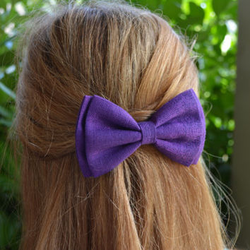 Hair Bow - Shimmering Purple