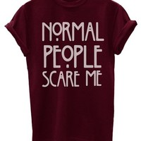 Normal People Scare Me Funny Mens T-Shirt