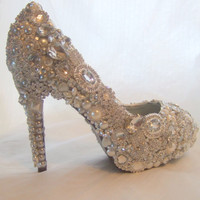 Cinderellas Wish crystal glass and pearl by everlastinglifashion