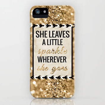 She Leaves a Little Sparkle Wherever She Goes iPhone & iPod Case by Tangerine-Tane