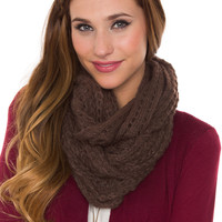 Zara Infinity Scarf - Brown - One Size / Brown