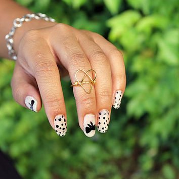 Gold (or Silver) Heart Knuckle Ring