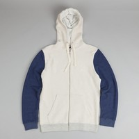 Orsman Reverse Zip Hood Depths Blue / Ecru