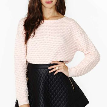 Candy Dot Crop Sweater