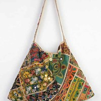 Love Sam Embroidered Mirrors Market Hobo Bag- Black Multi One