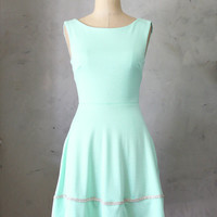 COQUETTE in MINT  Light mint green dress with by FleetCollection