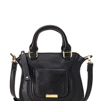 FOREVER 21 Faux-Leather Mini-Satchel Black One