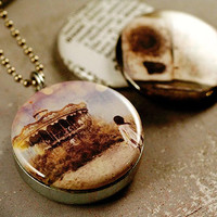 Dream Photo Locket - Carousel, Angel - Magnetic Interchangeable Necklace - by ThisYearsGirl and Polarity