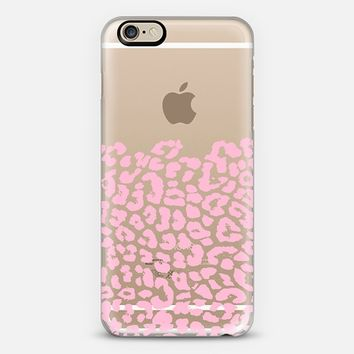 Wild Pink Leopard Transparent iPhone 6 case by Organic Saturation | Casetify