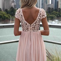 PRE ORDER - SPLENDED ANGEL DRESS (Expected Delivery 19th March, 2014) , DRESSES, TOPS, BOTTOMS, JACKETS & JUMPERS, ACCESSORIES, 50% OFF SALE, PRE ORDER, NEW ARRIVALS, PLAYSUIT, COLOUR, GIFT VOUCHER,,Pink,LACE,SHORT SLEEVE,MINI Australia, Queensland, Brisba