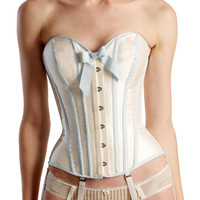 Orchid corset  ivory by AngelaFriedman on Etsy