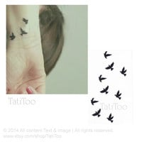 Bird - Temporary Tattoo T002