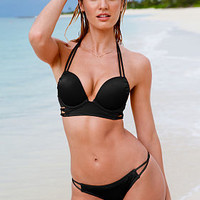 Strappy Add-2-Cups Push-Up Mid-line Halter - Bombshell Swim Tops - Victoria's Secret