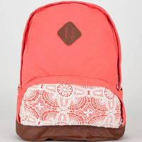 Jersey Knit Backpack Coral One Size For Women 20697531301
