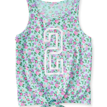 Kids' Ditsy Floral 2 Tie-Front Tank