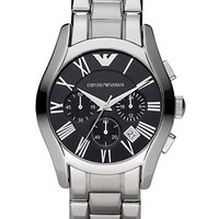 Emporio Armani Mens Stainless Steel Chronograph Watch