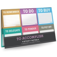 To Accomplish Sticky Note Packet