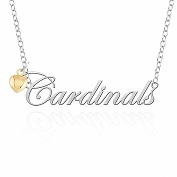 Louisville Cardinals Sterling Silver College Script Necklace. College Jewelry. Free Shipping