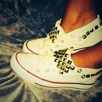 SALE!!! Studded Converse Shoes ANY COLOR