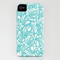 Laughter in Blue & White iPhone Case by Diane Kappa | Society6