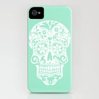mint hipster skull iPhone Case by Island Art | Society6