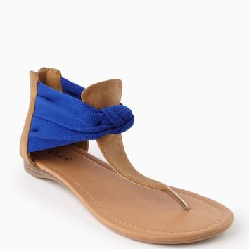 Royal Blue Knotted Wrap Sandal